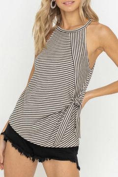 Lush  Side Tie Striped Tank - Product List Image