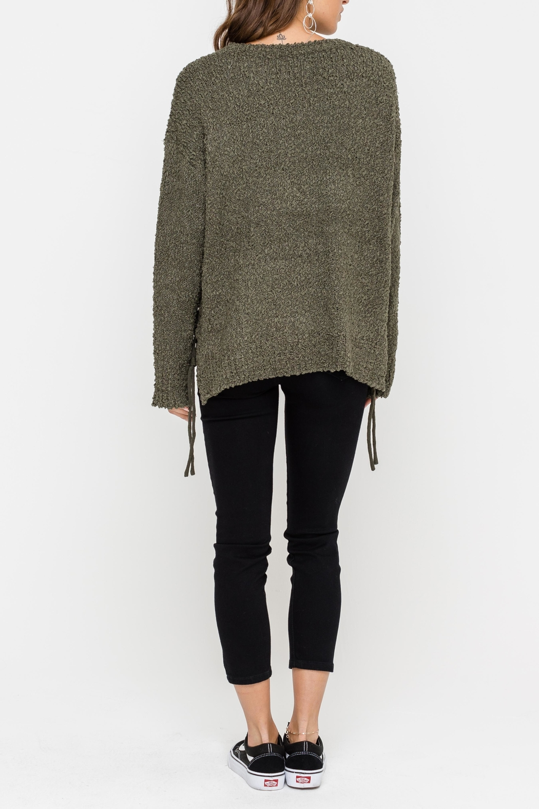 Lush Side Tie Sweater - Front Full Image