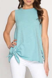 She + Sky Side Tie Tank - Product Mini Image
