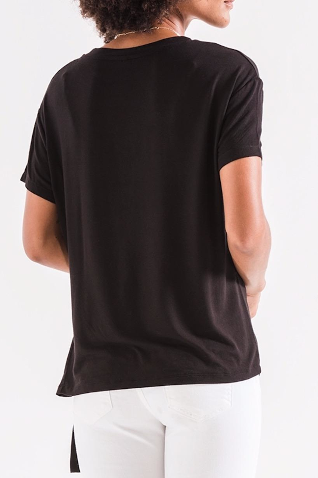 z supply Side Tie Tee - Front Full Image
