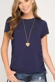 She + Sky Side Tie Top - Product Mini Image