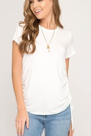 She + Sky Side Tie Top - Front cropped