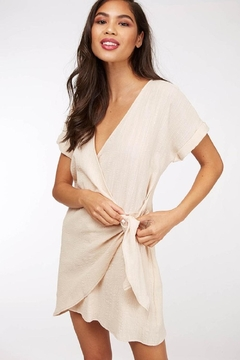 Peach Love California Side-Tie Wrap Dress - Product List Image