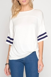 She + Sky Side Twist Top - Front cropped