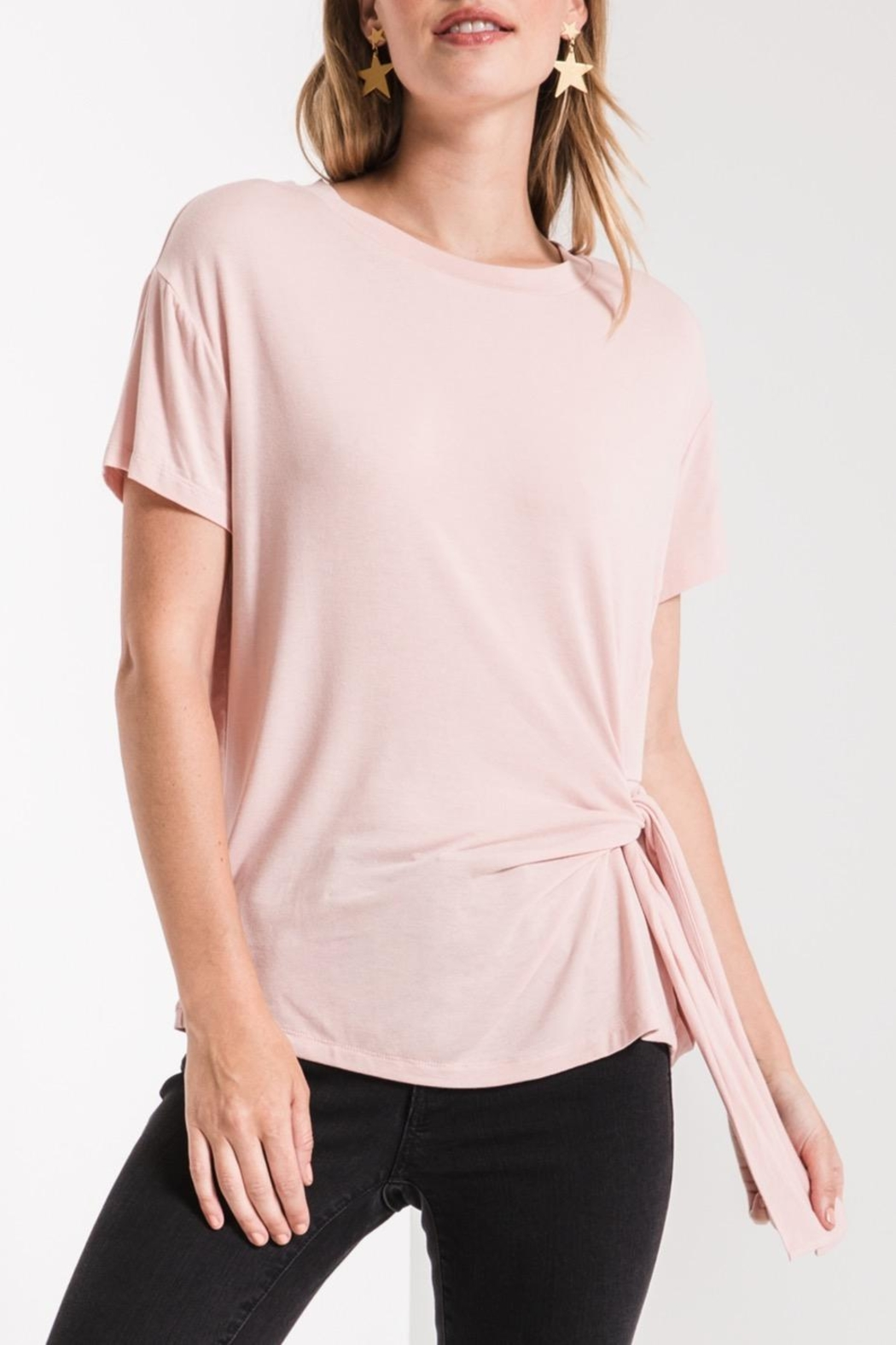 z supply Side Wrap Tee - Back Cropped Image