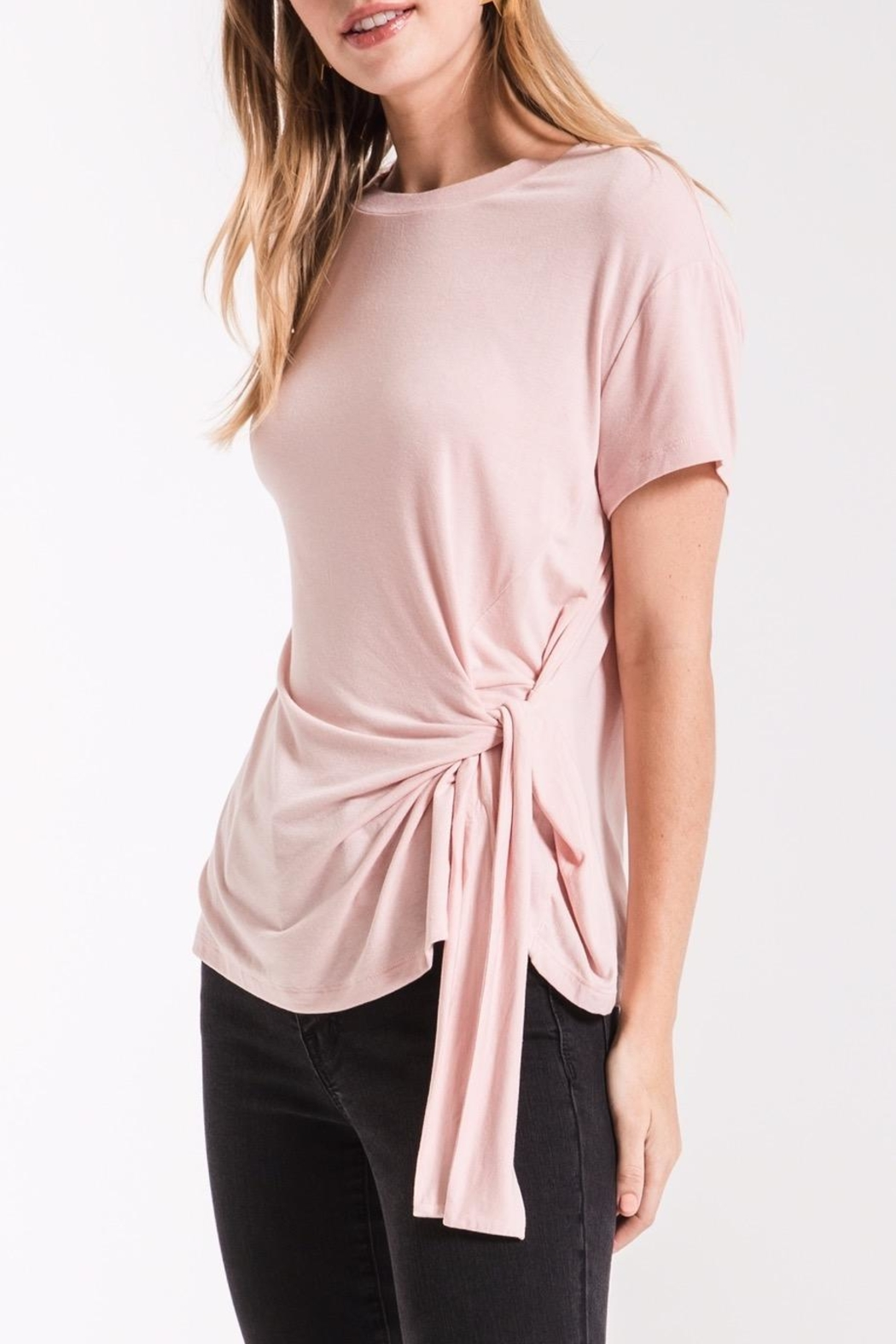 z supply Side Wrap Tee - Side Cropped Image