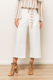Hem & Thread Side Zip Culotte Pants - Product Mini Image