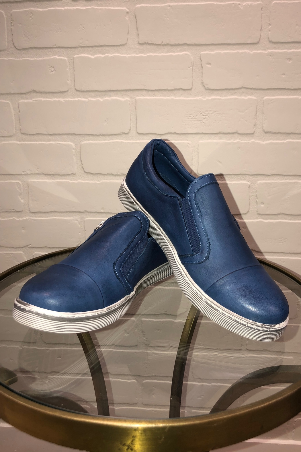 Andrea Conti Side Zip Sneaker - Front Full Image
