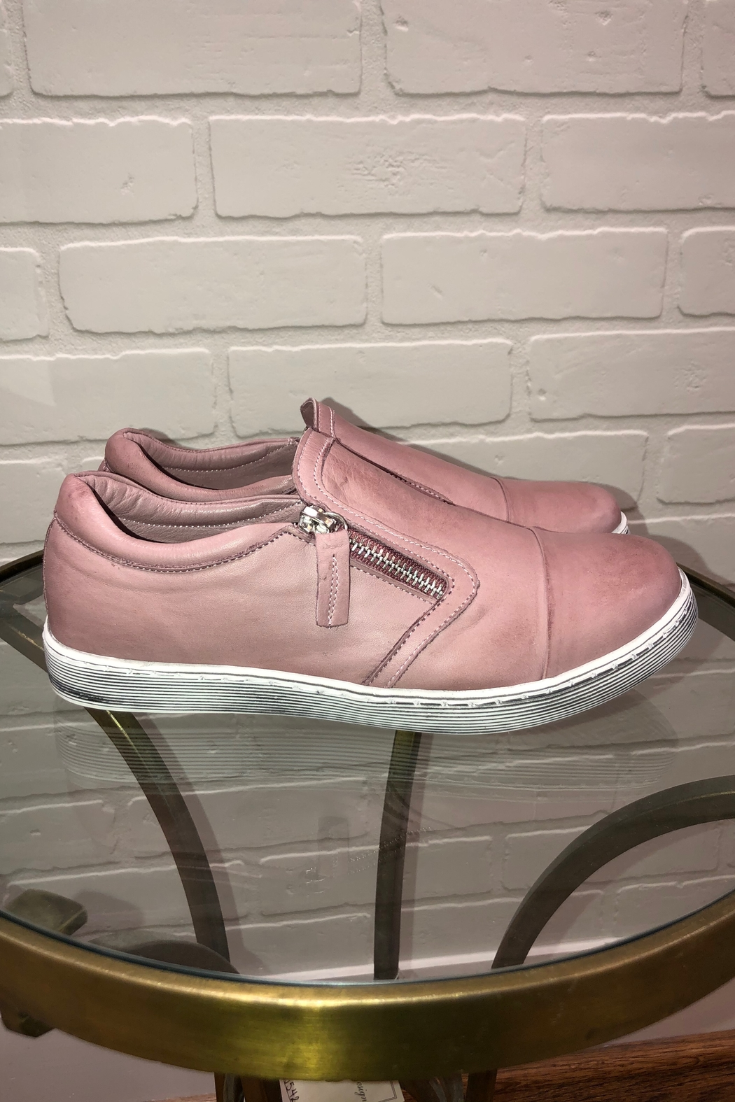 Andrea Conti Side Zip Sneaker - Front Cropped Image