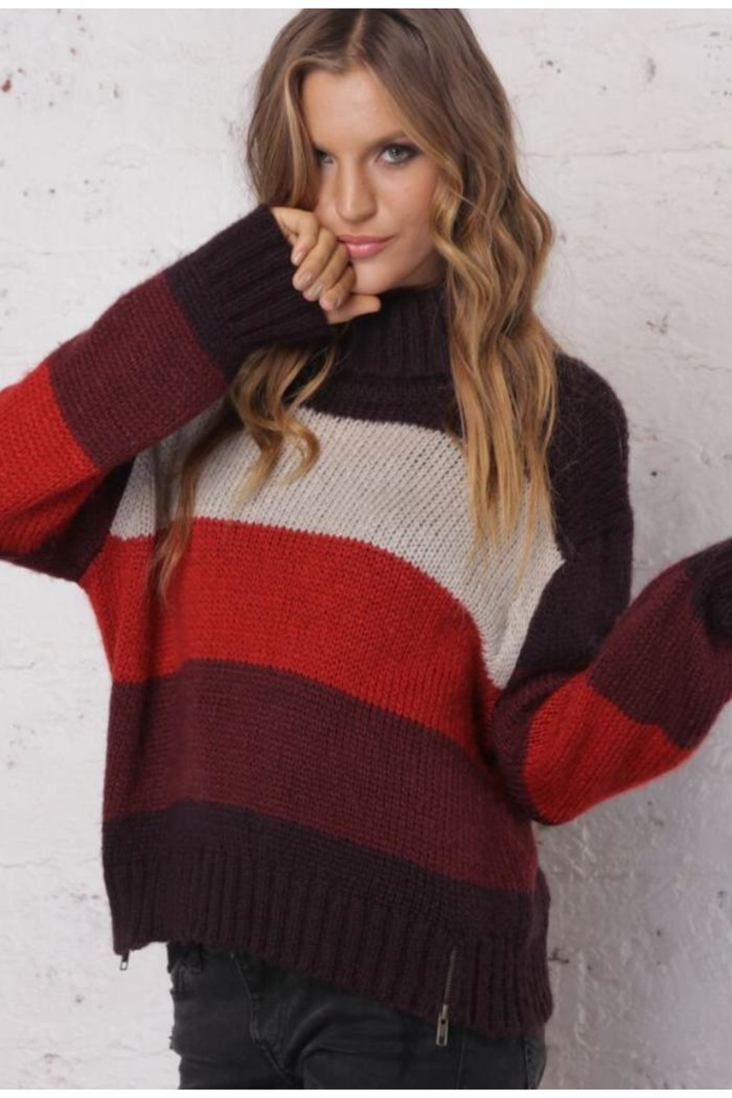 Wooden Ships Side-Zip Sweater - Front Full Image