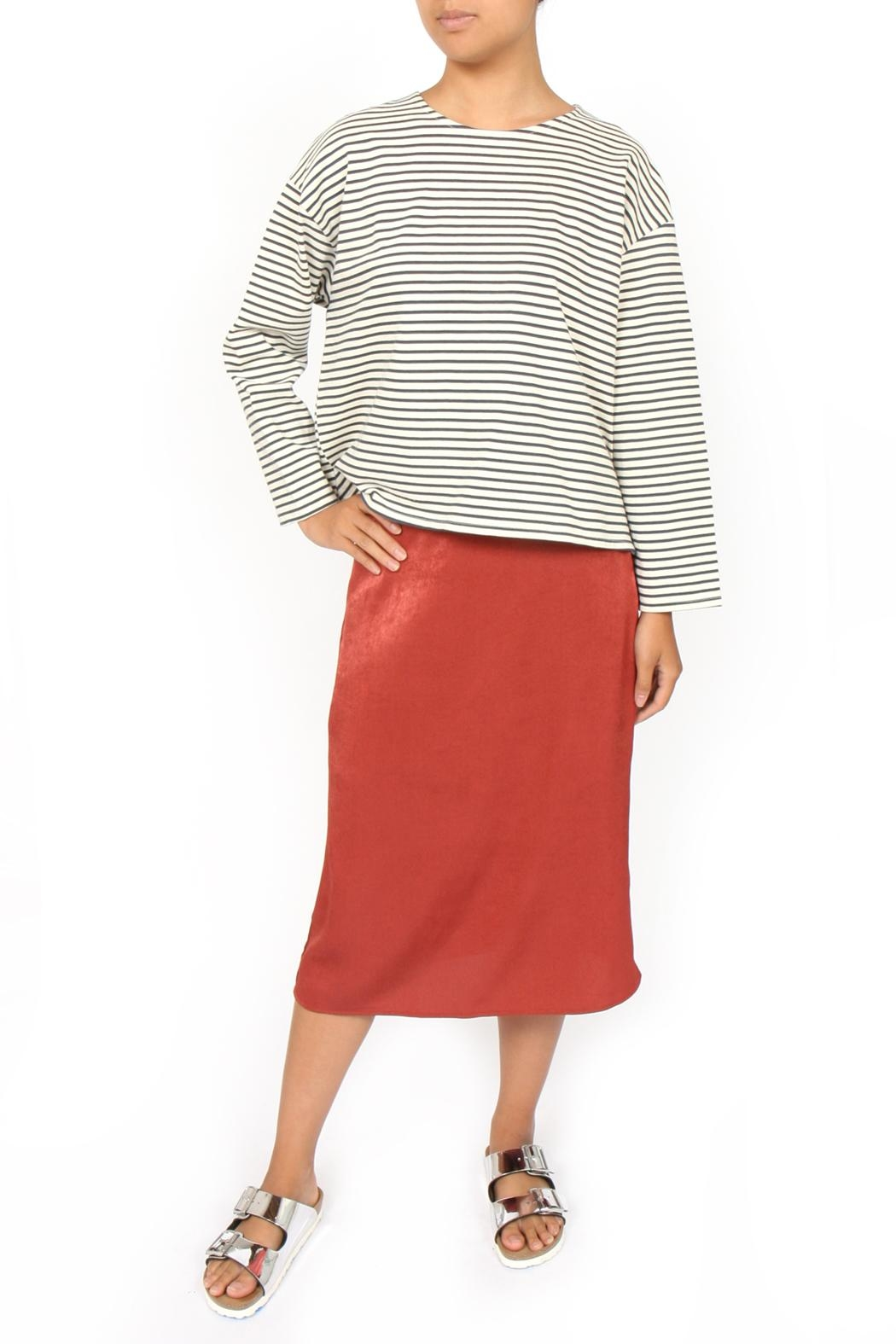 Side Party Blixen Midi Skirt - Front Cropped Image