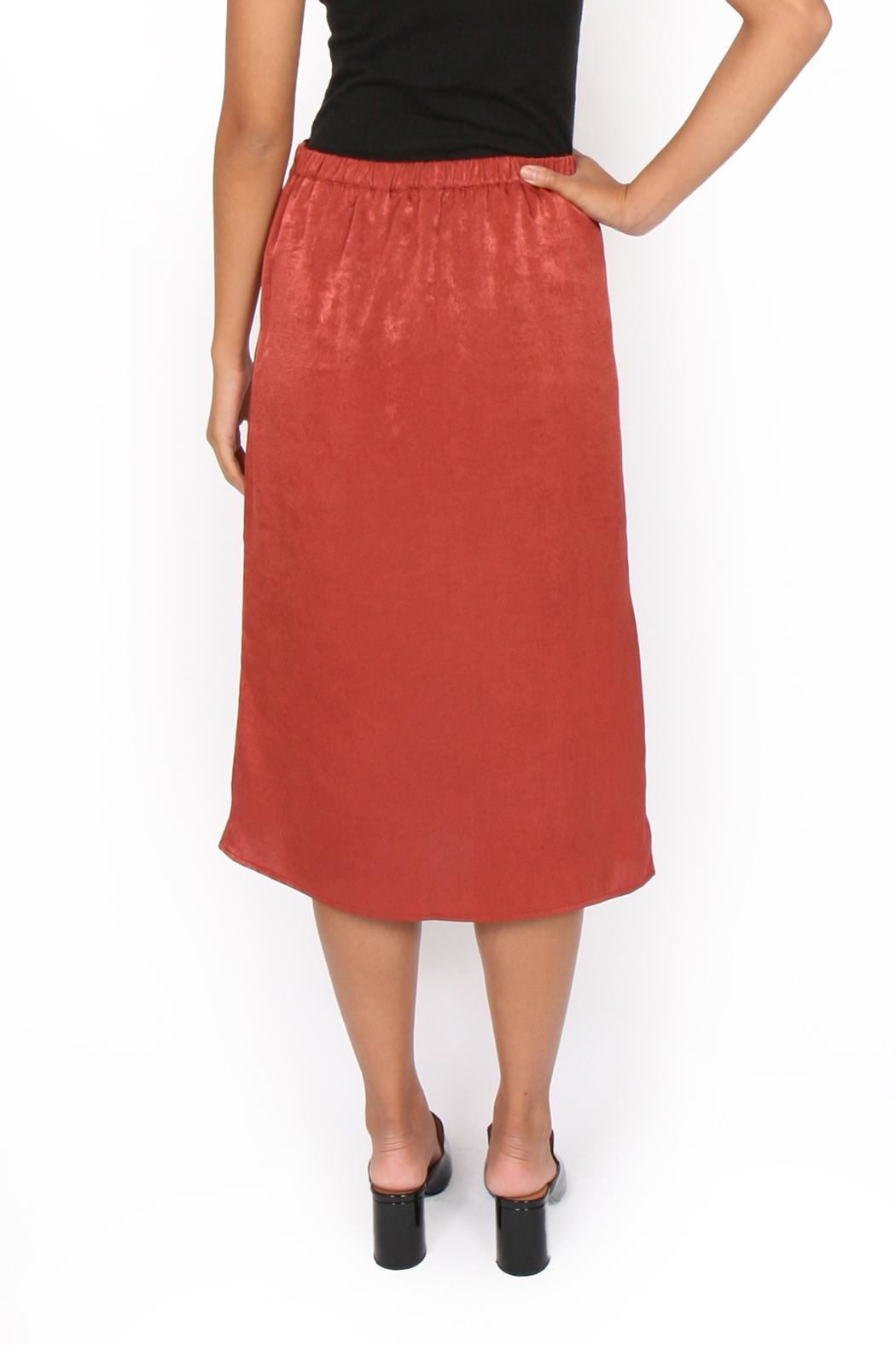 Side Party Blixen Midi Skirt - Back Cropped Image