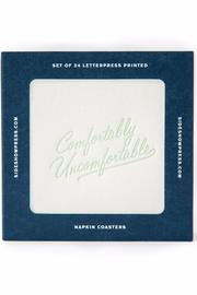 Sideshow Press Comfortably Unfcomfortable Napkin Coaster - Product Mini Image