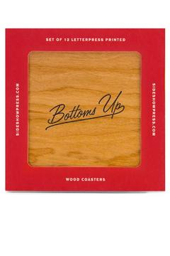 Sideshow Press Wooden Letterpressed Coasters - Product List Image
