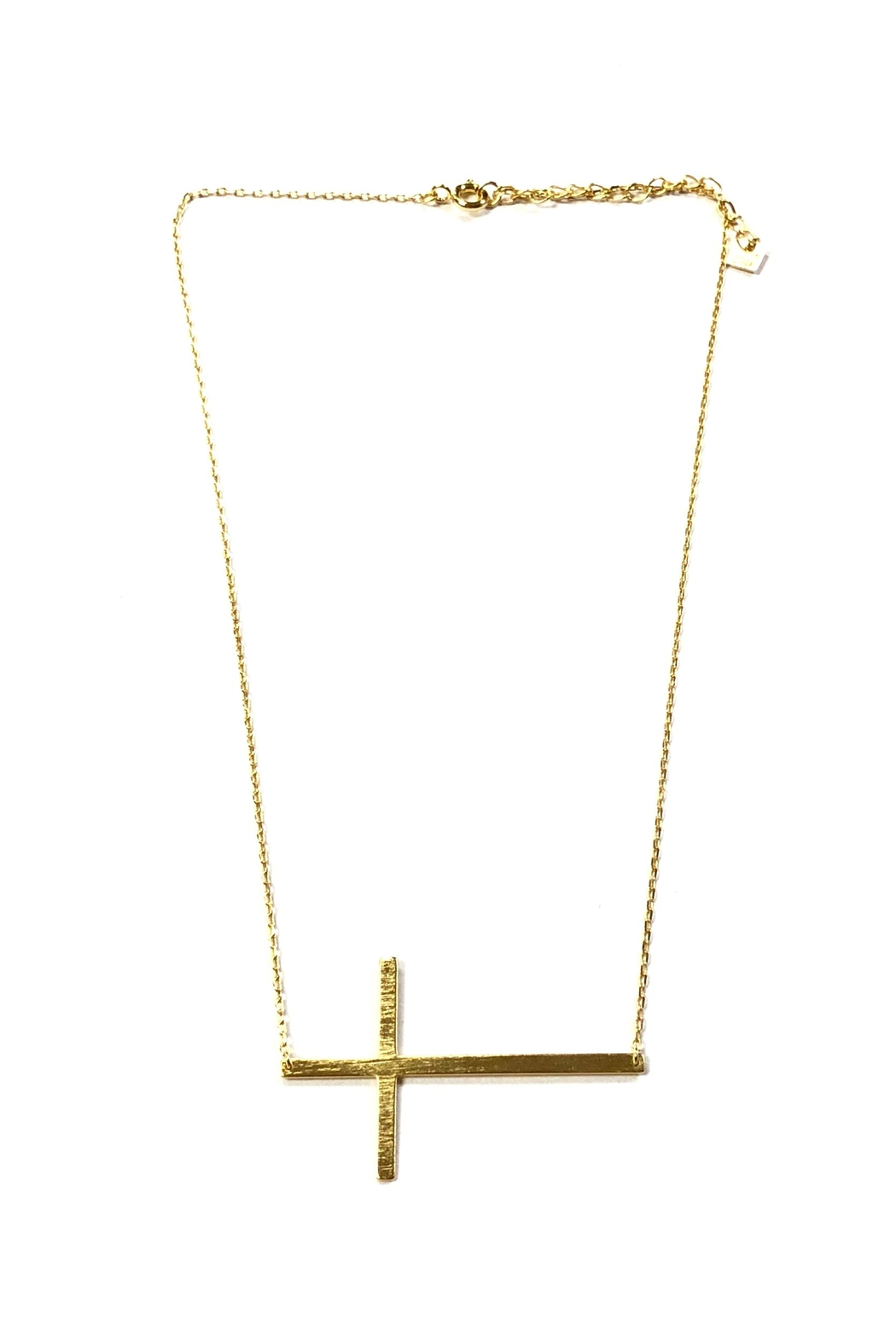 Cool and Interesting Sideways Cross Necklace - Main Image