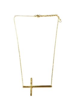 Cool and Interesting Sideways Cross Necklace - Alternate List Image
