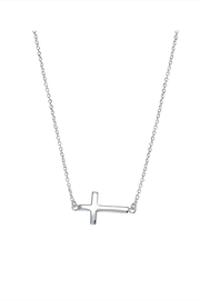 Lets Accessorize Sideways Cross Necklace - Front cropped