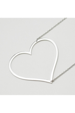 Cool and Interesting Sideways Heart Necklace - Alternate List Image