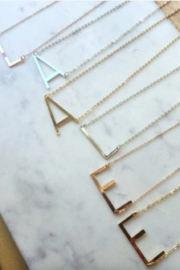 Laalee Jewelry Sideways Initial Necklace - Product Mini Image