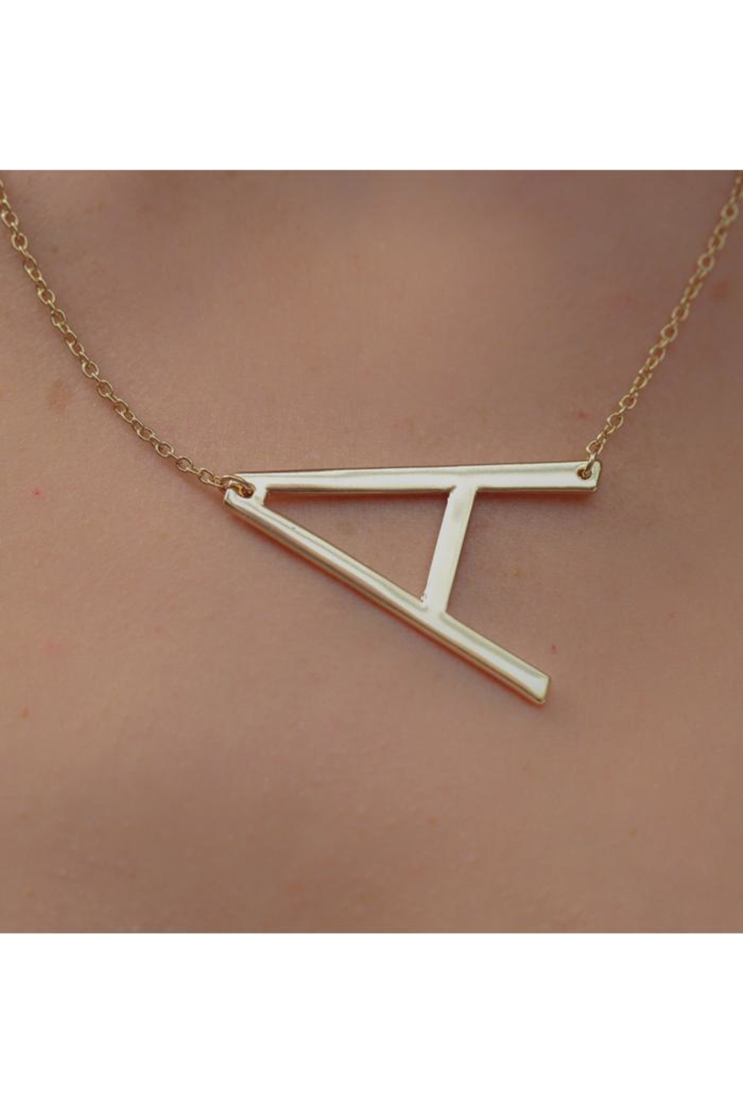 Kaleidoscope Accessories Sideways Initial Necklace - Front Cropped Image