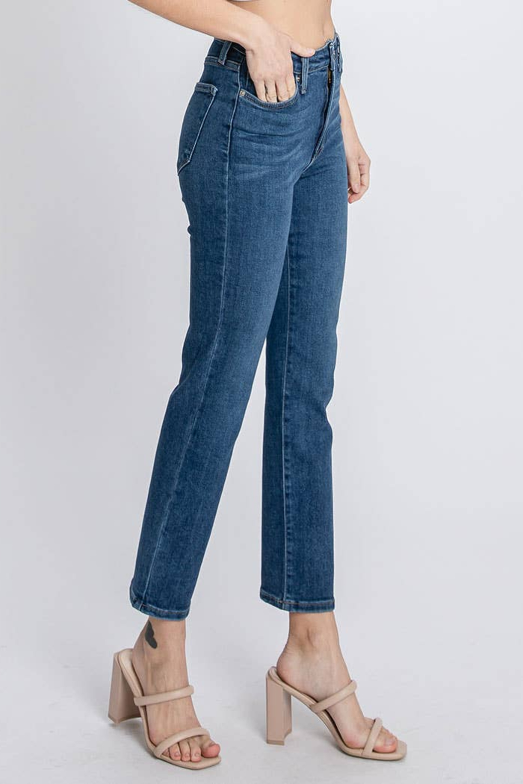 Letters to Juliet Siena High Rise Straight Leg Jean - Front Full Image