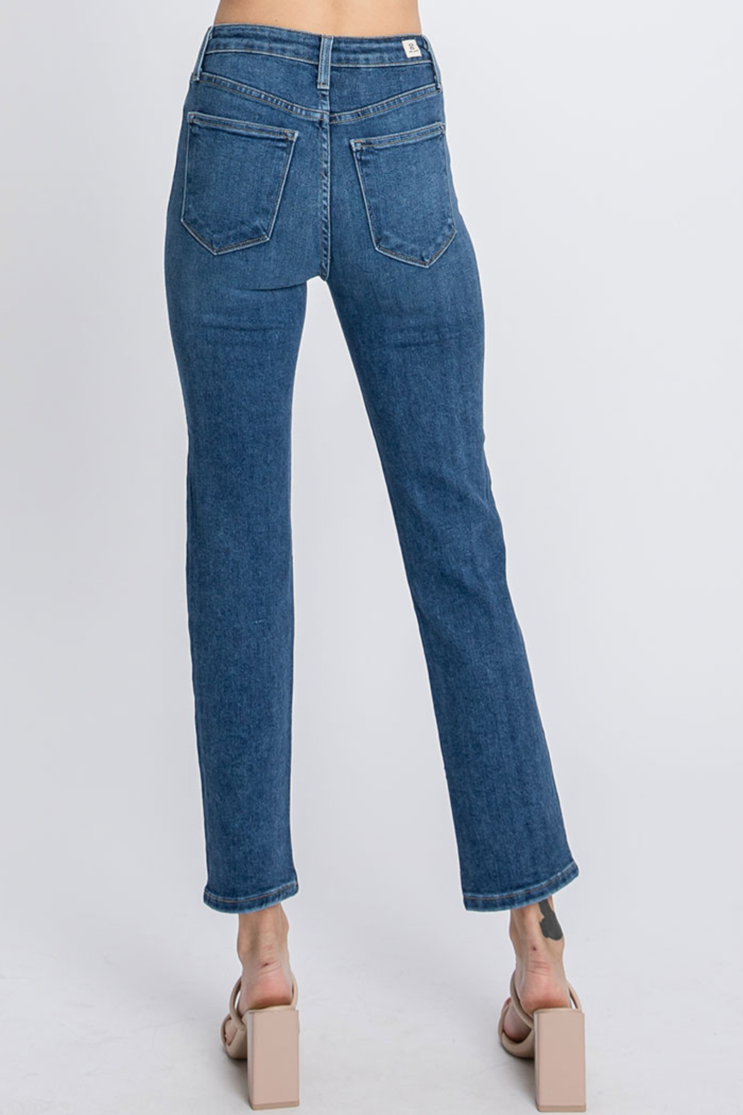Letters to Juliet Siena High Rise Straight Leg Jean - Side Cropped Image