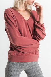 Others Follow  Sienna Knit Top with Lower Back knot and Tie - Product Mini Image
