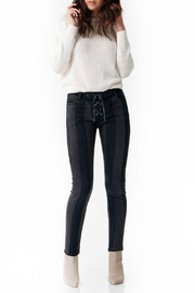Blue Revival Sienna Lace-up Midrise Striped Jean - Product Mini Image