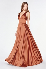 Cinderella Divine Sienna Satin Flowy Long Formal Dress - Product Mini Image