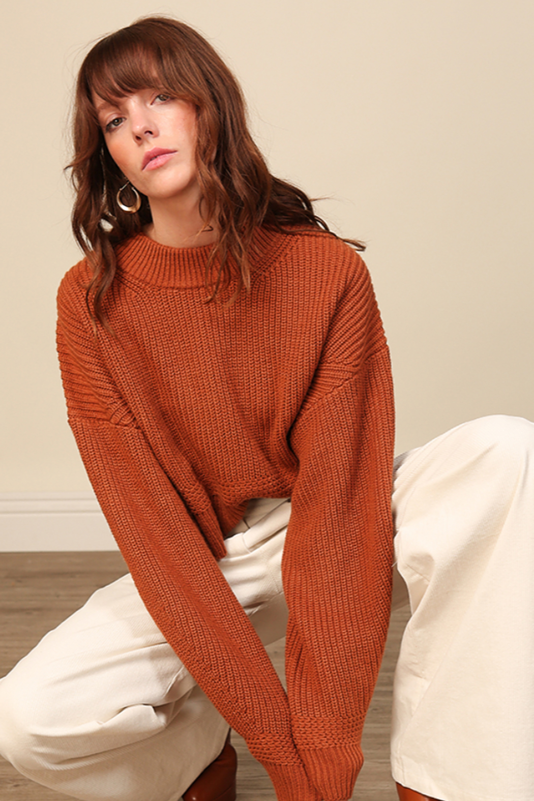 Line & Dot Sienna Sweater - Back Cropped Image