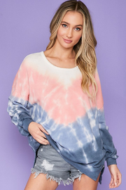 R+D  Sienna Tie Dye Pullover - Product Mini Image