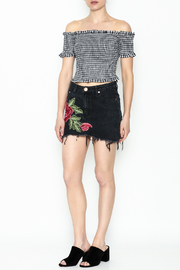 Signature 8 Black Embroidered Skirt - Side cropped