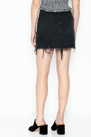 Signature 8 Black Embroidered Skirt - Back cropped