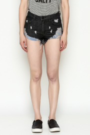 Signature 8 Black Frayed Shorts - Front full body