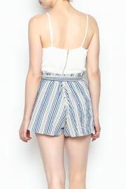 Signature 8 Pleated Tie Romper - Back cropped