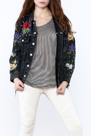 Signature 8 Black Denim Jacket - Product Mini Image