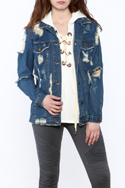 Signature 8 Distressed Denim Jacket - Product Mini Image