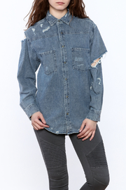Signature 8 Denim Button-Down Top - Product Mini Image