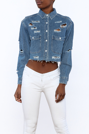 Signature 8 Distressed Crop Jacket - Front cropped