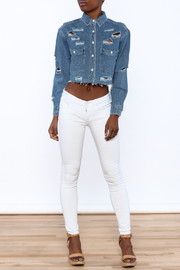 Signature 8 Distressed Crop Jacket - Front full body