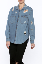 Shoptiques Product: Distressed Denim Shirt