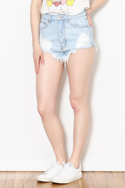 Signature 8 Distressed Denim Shorts - Product Mini Image