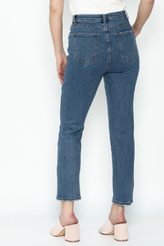 Signature 8 Embroidered Denim Jeans - Back cropped