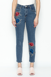 Signature 8 Embroidered Denim Jeans - Front full body