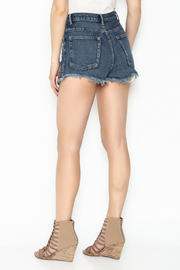 Signature 8 High Waisted Distressed Shorts - Back cropped