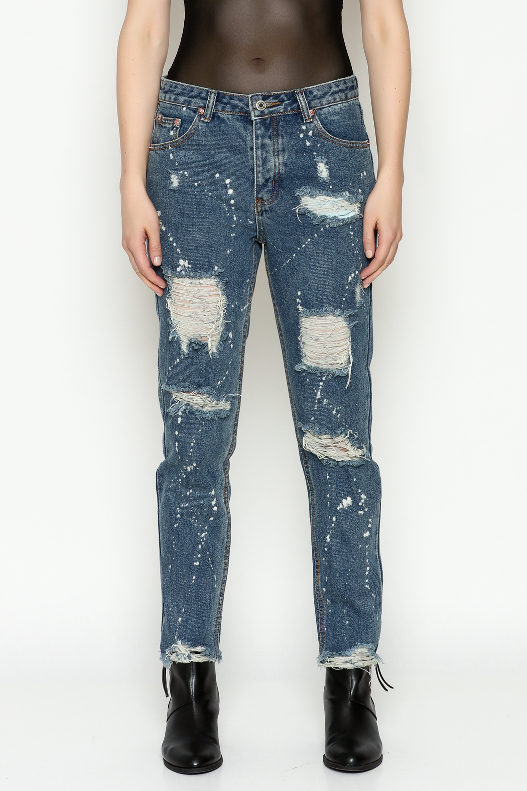 Signature 8 High Waisted Jeans - Front Full Image