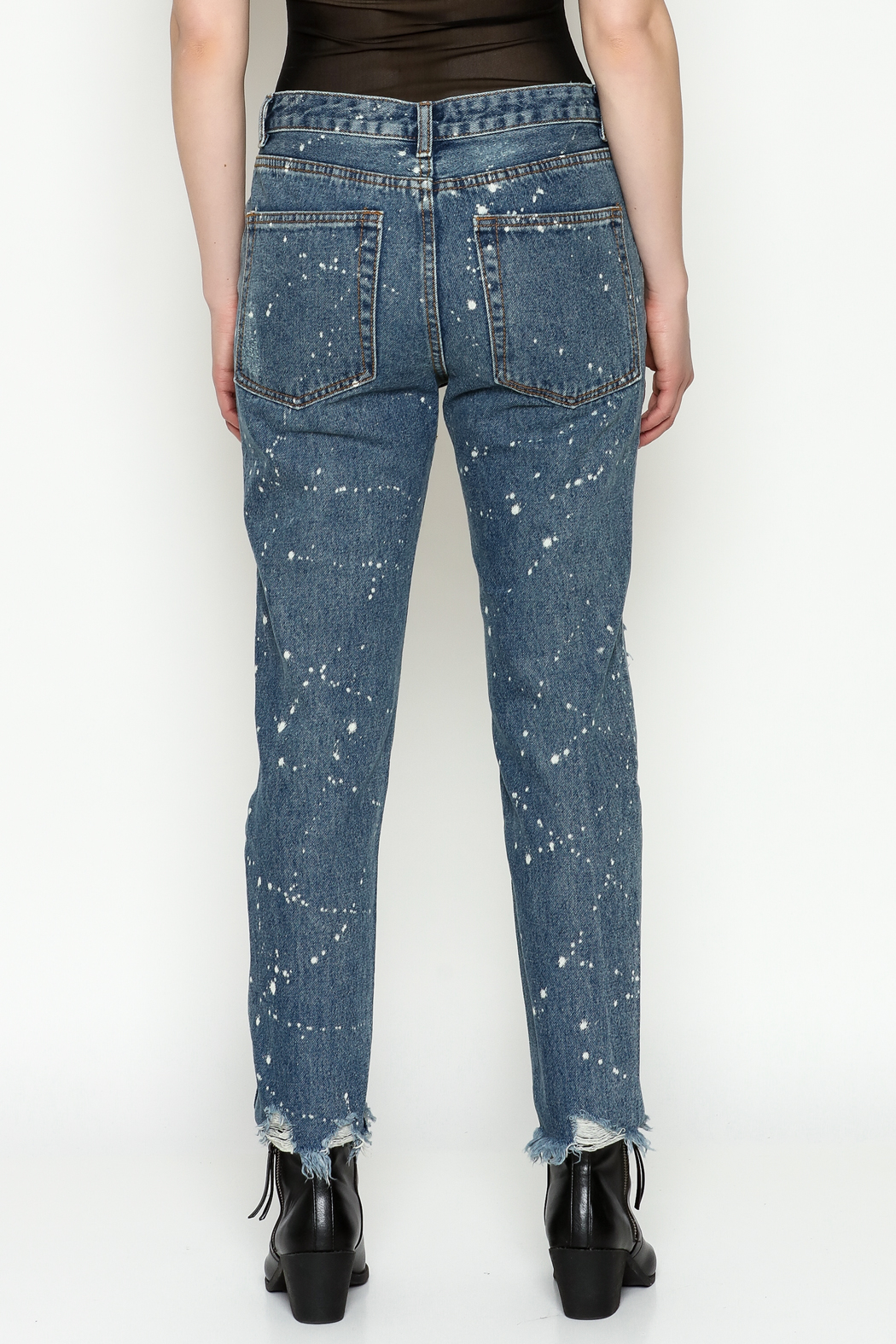 Signature 8 High Waisted Jeans - Back Cropped Image