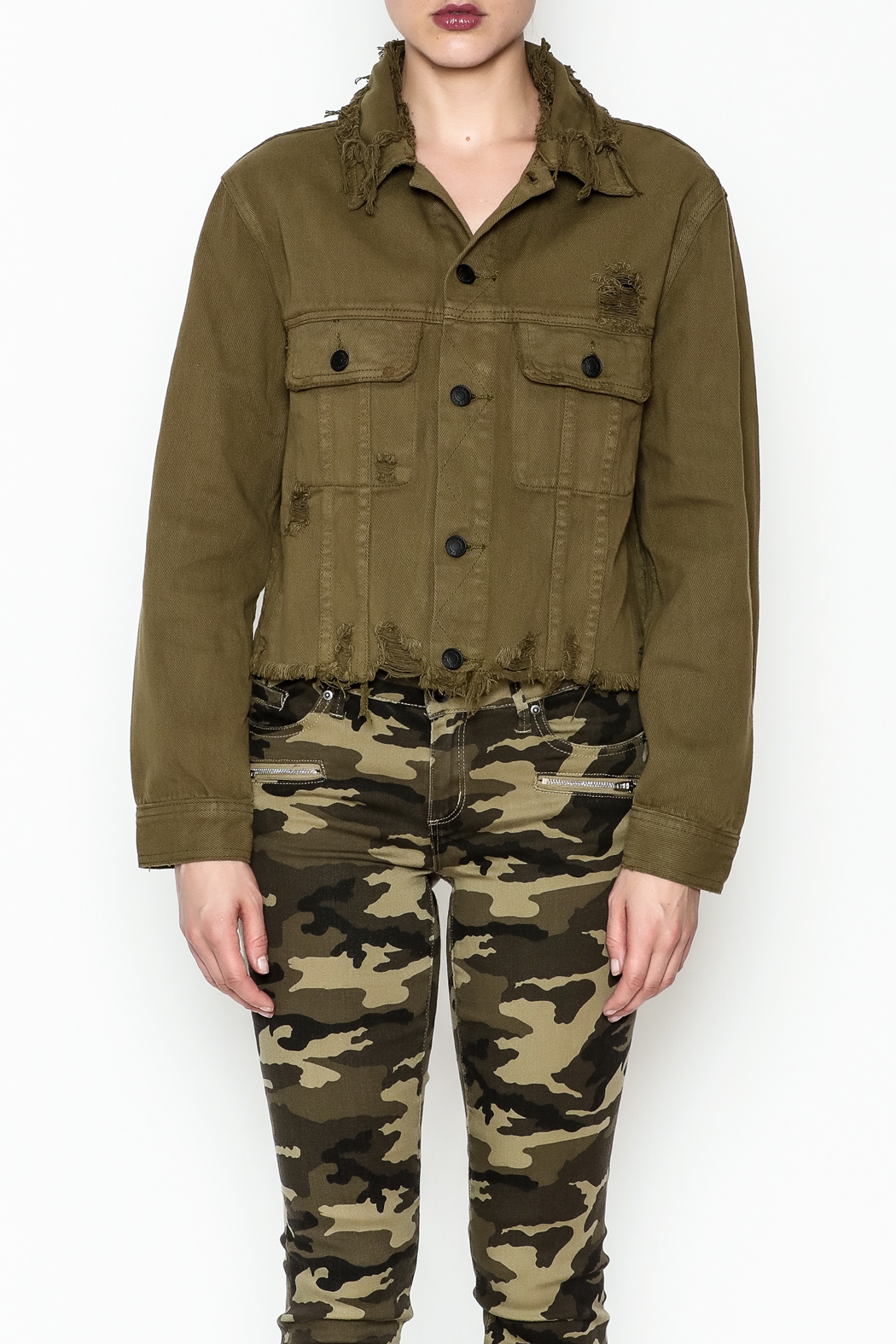 Signature 8 Twill Cropped Jacket - Side Cropped Image