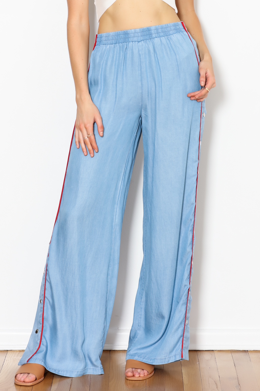 Signature 8 Side Button Pants - Front Cropped Image