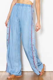 Signature 8 Side Button Pants - Front full body